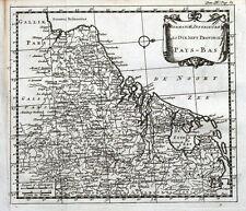 NETHERLANDS, Pays Bas, 17 Provinces. Sanson original antique map 1721
