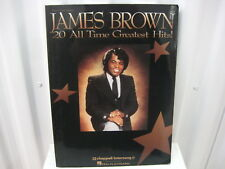 James Brown 20 All Time Greatest Hits! Sheet Music Song Book Songbook