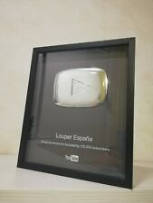 Placa de YouTube 100,000 subscriptores Personalizable Réplica Botón Plata Premio