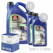 Engine Oil and Filter Service Kit 7 LITRES Millers TRIDENT 10w-40 7L