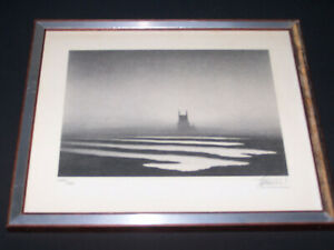 Trevor Grimshaw - Isolated Church - Limited Edition Lithograph Numbered & Signed