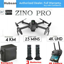 Hubsan Zino PRO 4.5KM Combo Quadcopter DRONE-12MP 4K Camera 3Gimbal+3Battery+Bag