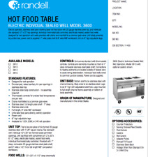 Randell Hot Food Table