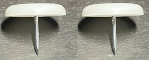 2x IKEA FLOOR SURFACE PROTECTION / FLOOR GLIDES, Round WITH NAIL PART #102370