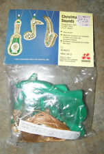 Vintage LeeWards Sequin Beads Christmas Ornament Kit Musical Instruments NEW