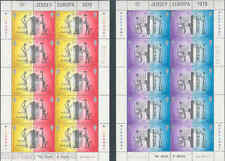 JERSEY  LOT OF  13  EUROPA SHEETLETS  MINT NH AS SHOWN