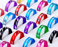 100pc Fashion Wholesale Jewelry lots Bulk Mixed Coloured Style Aluminum Rings