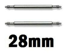 2 Stainless Steel Watch Strap Spring Bars 28mm Pins Lugs Links