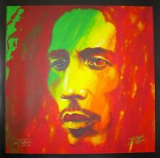 "STEPHEN FISHWICK ""THE SOLDIER"" BOB MARLEY Hand Signed Large Giclee on Canvas"