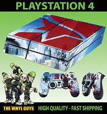 PS4 Piel Mirrors Edge Catalyst Logotipo Faith CONNORS Pegatina + Pad vinilo laid