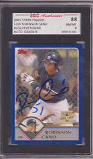 ROBINSON CANO SIGNED 2003 TOPPS TRADED ROOKIE CARD SGC SLAB YANKEES SEATTLE