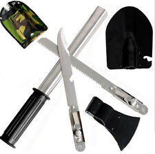 Outdoor 4 In1 Camping Hiking Survival Knife Shovel Axe Saw Emergency Gear Kit