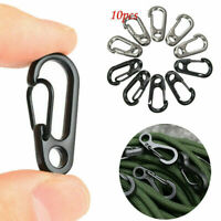 10PCS EDC Gear Mini Snap Spring Clip Hook Carabiner Outdoor Survival Tool Set HS