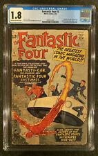 Fantastic Four 3 CGC 1.8 1962 - key issue - first uniforms