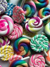 5 Random Lollipop Charms, Perfect for Slime Making DIY Fast FREE SHIPPING