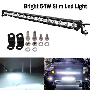 New 19.5 inch 54W LED Work Light Bar Spot Offroad Fog Driving Lamp