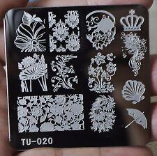 Metal Nail Art Template Image Plate Scallop Lotus Sunflower Printing Plates TU20