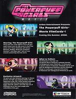 THE POWERPUFF GIRLS MOVIE 2002 ARTBOX PROMO PROMOTIONAL SALE SELL SHEET