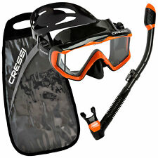 Cressi Pano 3 Mask Supernova Dry Adult Size Snorkel Combo Carring Bag Packages