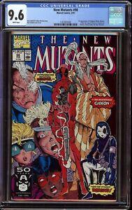 New Mutants # 98 CGC 9.6 White (Marvel 1991) 1st appearance Deadpool