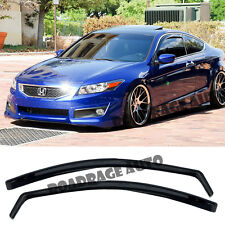 For 08-12 Honda Accord 2 DOOR JDM Side Window Visors Rain Guard In-Channel Vent