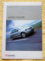 Vauxhall Astra Coupe Range, 2000 Models inc 1.8, 2.2 & Turbo