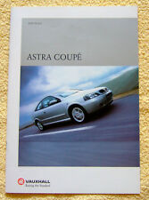 Vauxhall Astra Coupe Range, 2000 Models inc 1.8, 2.2 & Turbo