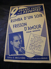 Partition Rumba d'un soir Frisson d'amour L Brouvère 1960 Music Sheet
