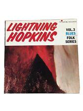 Lightning Hopkins Vol. 3 Blues: Folk Series Vinyl
