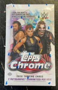 2020 TOPPS WWE CHROME WRESTLING FACTORY SEALED HOBBY BOX
