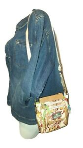 New LILY BLOOM Purse Forest Owl Print JAMIE Crossbody Eco Friendly Recycled Bag