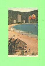 ZZ POSTCARD BATHERS ON THE BEACH PLAYA ICACOS PARASAILING POST CARD