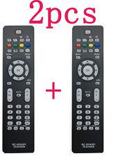 2Pcs Nouvelle télécommande de remplacement RC2034301 / 01 pour Philips TV à LED