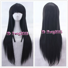 Akiyama Mio K-ON!/Madoka Magica Akemi Homura Black Straight Cosplay Wig CC103