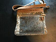 MYRA BAG HIDE & FLORAL PRINT SMALL & CROSS BODY BAG NWOT
