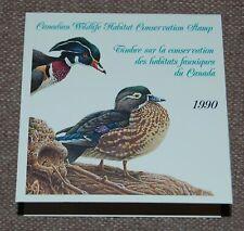 Canada Wildlife Habitat Conservation (Ducks) 1990 complete booklet