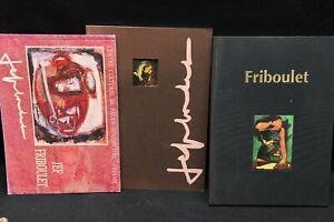 Livre Ensemble de 3 catalogues exposition jeff FRIBOULET- 1996 1999