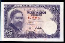 170-INDALO- Banco de España, Madrid. 25 Pesetas Julio 1954. Serie L. MBC+ !!!!!!