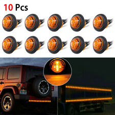 "20× 3/4"" Round Amber LED Bullet Light Truck Trailer Side Clearance Marker Lamp"