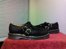 Doctor Doc Martens 8185 Mary Jane 2 buckle Black leather shoes Sz US 7 ENGLAND