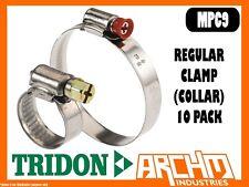 TRIDON MPC9 REGULAR CLAMP COLLAR 10 PACK 180MM-205MM MULTIPURPOSE PART STAINLESS