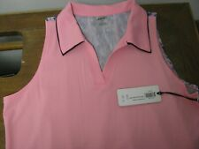 Jofit Golf Flounce Back Polo Shirt Size M PINK BRAND NEW w/TAGS FREE SHIP!!
