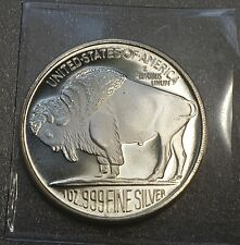 2013 BUFFALO/CHIEF 1 troy Oz .999 Silver Round ** Great Investment+ Collectible!