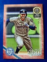 2018 Topps Gypsy Queen - Carlos Correa - #25 Red Parallel #'d 04/10 Angels RARE