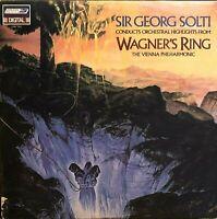 "WAGNER'S RING Sir Georg Solti 12"" LP ORIG 1982 London LDR 71112 Classic VG+/NM"