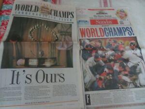 RARE ATLANTA BRAVES WORLD SERIES BASEBALL CHAMPS NEWSPAPER LOT 1995