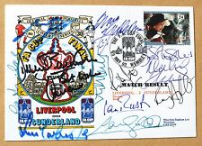 LIVERPOOL V SUNDERLAND FA CUP 1992 COVER SIGNED BY RUSH SOUNESS McMANAMAN + 9