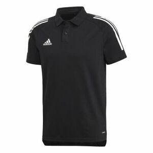 Adidas Football Soccer Kids Sport Training Casual Short Sleeve SS Polo Shirt Top
