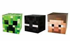 Minecraft Cardboard Head Steve Enderman Creeper LOT OF 3 Role Play  Comicon NEW