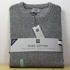 M&S Chunky PURE COTTON Textured CREW NECK JUMPER ~ Size XXL ~ GREY (rrp £29.50)